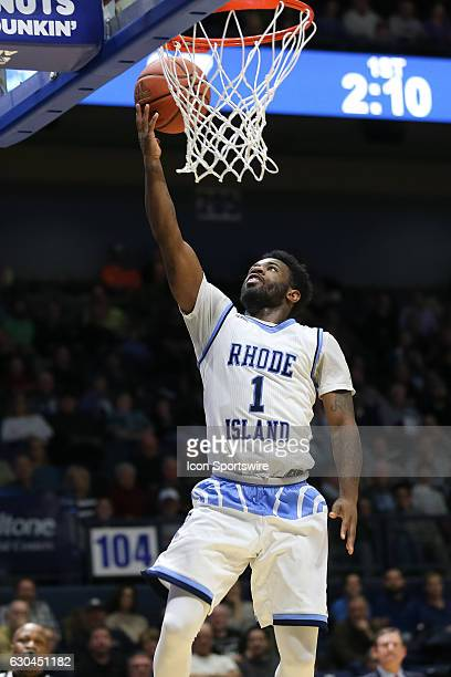 Jarvis Garrett of URI with the lay up during the game between the University of Rhode Island Rams and the William Mary Tribe on December 22 at The...