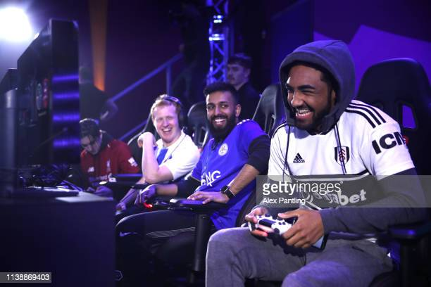 Jarvis ' ITzJxrvis' Denham of Fulham reacts during day one of the 2019 ePremier League Finals at Gfinity Arena on March 28 2019 in London England