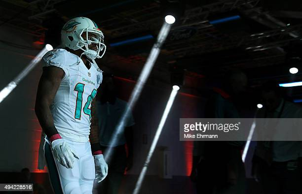 Jarvis Landry of the Miami Dolphins takes the field during a game against the Houston Texans at Sun Life Stadium on October 25 2015 in Miami Gardens...