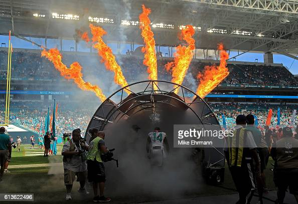 Jarvis Landry of the Miami Dolphins takes the field during a game against the Tennessee Titans on October 9 2016 in Miami Gardens Florida