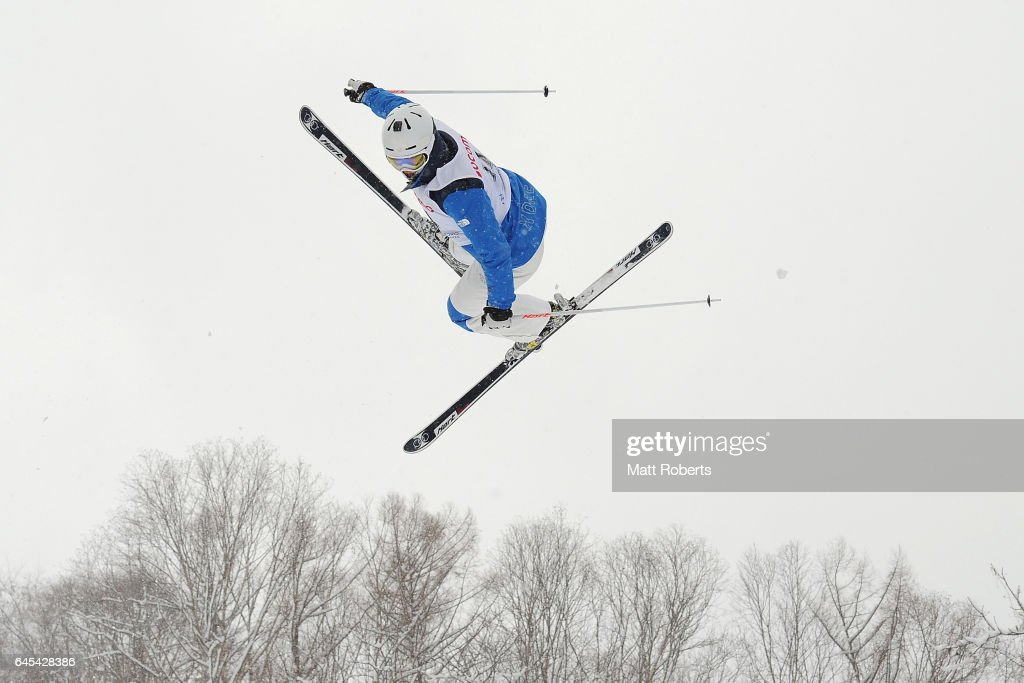 Jar-Woo Choi of Korea competes in the men's freestyle moguls on day nine of the 2017 Sapporo Asian Winter Games at Sapporo Bankei Ski Area on February 26, 2017 in Sapporo, Japan.