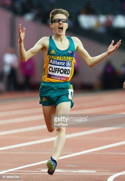 Jaryd Clifford of Australia men's 1500m F13 Final during World Para Athletics Championships at London Stadium in London on July 19 2017