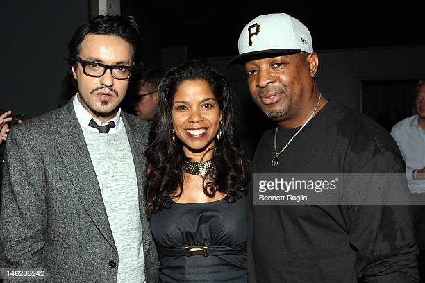 Jas Singh Mann Gaye Theresa Johnson and Chuck D attend the New York Premiere Of IceT's Directorial Debut Film Something From Nothing The Art Of Rap...
