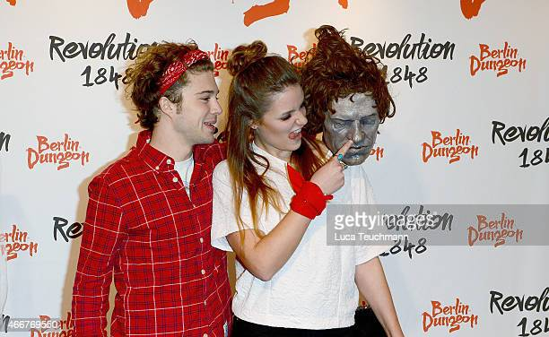 Jascha Rust and girlfriend Helene attend 'Revolution 1848' Show Premiere at Berlin Dungeon on March 18, 2015 in Berlin, Germany.