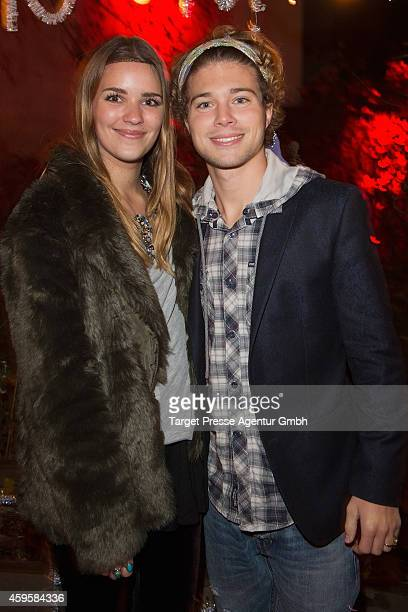Jascha Rust and his girlfriend Helene attend the 'Alles ist Liebe' premiere party at Claerchens Ballhaus on November 25, 2014 in Berlin, Germany.