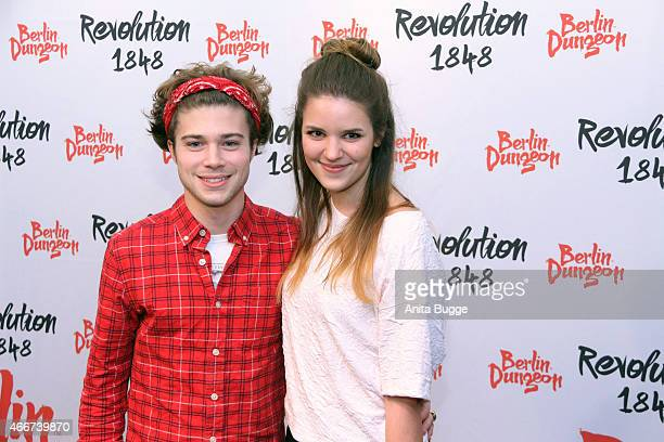 Jascha Rust and his girlfriend Helene attend the 'Revolution 1848' Show premiere at Berlin Dungeon on March 18, 2015 in Berlin, Germany.