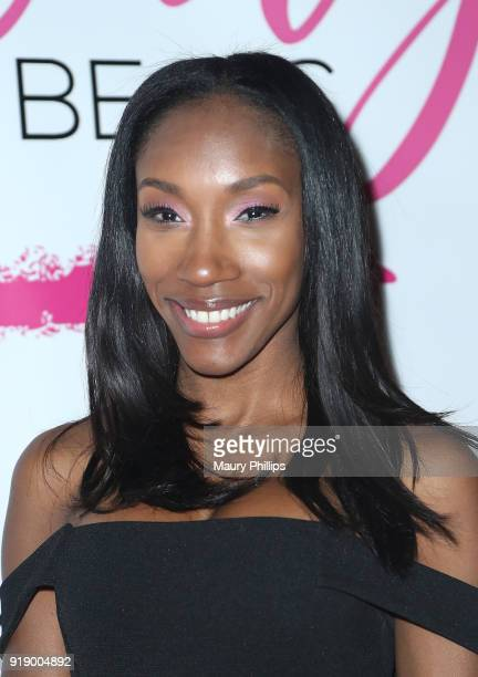 Jaseena Ali attends the 2018 Beauty The Beats Celebrity Party and Panel Discussion at Dream Magic Studios on February 15 2018 in Canoga Park...