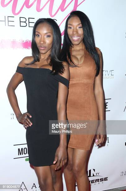 Jaseena and Autianna Ali attend the 2018 Beauty The Beats Celebrity Party and Panel Discussion at Dream Magic Studios on February 15 2018 in Canoga...