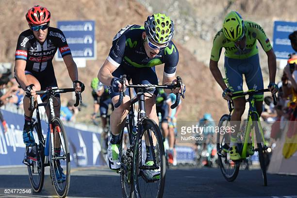 Jasha Sutterlin from Movistar Team finishes the third stage of the 2016 Tour of Dubai the 172km The Westin Stage from DIMC to Hatta Dam The third...