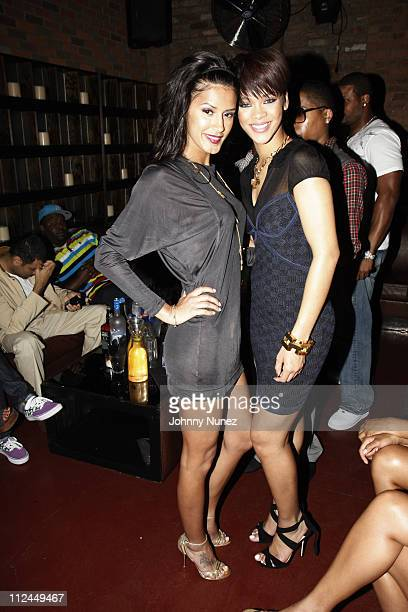 Jaslene Gonzalez and Rihanna attend the 'Good Girl Gone Bad' screening party on June 17 2008 at Guesthouse in New York