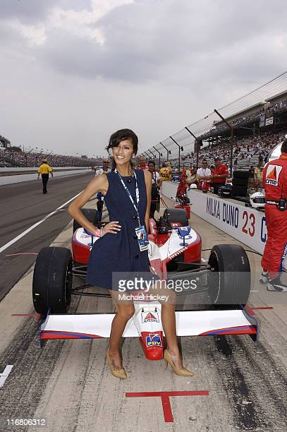 Jaslene Gonzalez seen at the Indy 500 in Speedway Indiana on May 27 2007