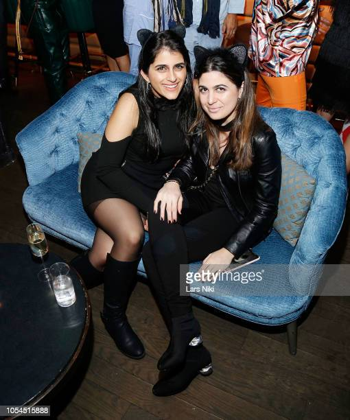 Jasman Naziri and Gabriella Assis attend Lauren Scala and Natalie Zfat's Fourth Annual 'Scaring is Caring' Halloween Party at The Seville on October...