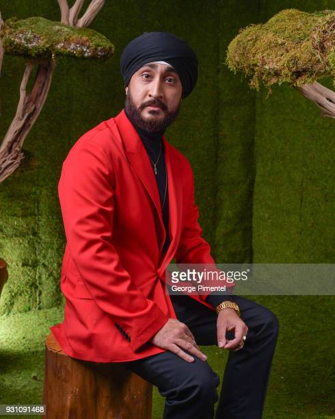 Jasmeet Raina poses in the 2018 Canadian Screen Awards Broadcast Gala Portrait Studio at Sony Centre for the Performing Arts on March 11 2018 in...