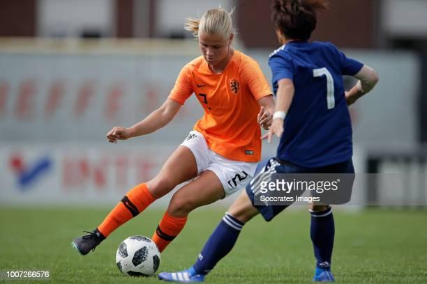 Jasmijn Duppen of Holland Women U20, Hinata Miyazawa of Japan Women U20 during the match between Holland Women U20 v Japan Women U20 at the Sportpark...
