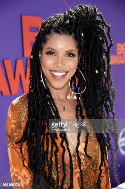 Jasmin Brown attends the 2018 BET Awards at Microsoft Theater on June 24 2018 in Los Angeles California