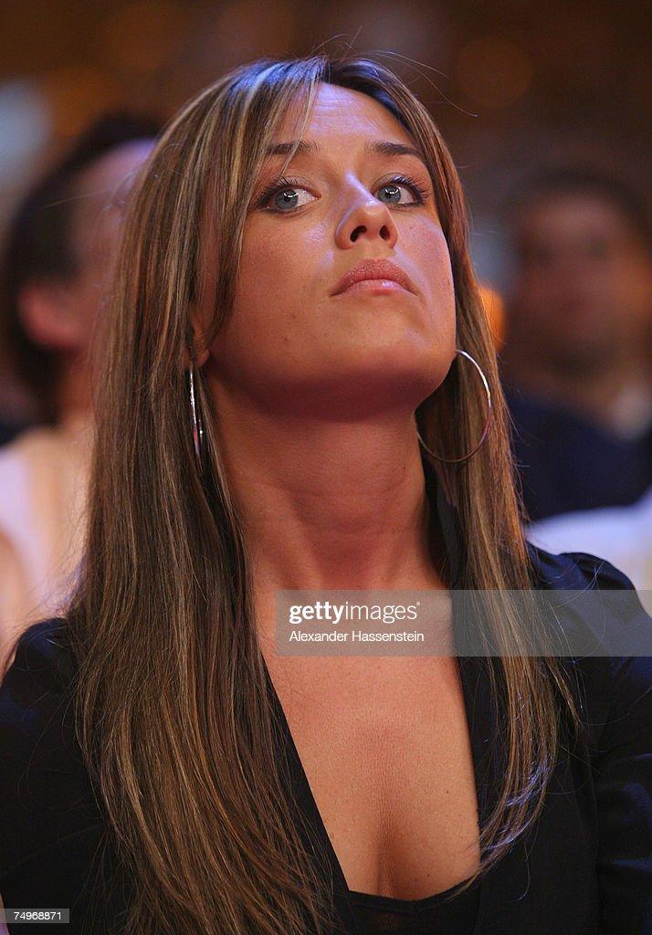 Jasmin Catic Wife Of Felix Sturm Looks During The Wba World
