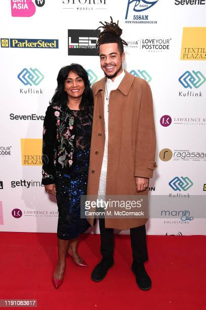 Jasmin Dhali and Ezra Jackson attend the Brit Asia TV Music Awards 2019 at SSE Arena Wembley on November 30 2019 in London England