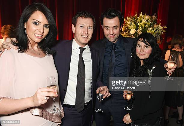 Jasmin Duran Nick Moran Daniel Mays and Louise Burton attend the London Evening Standard British Film Awards after party at Television Centre on...