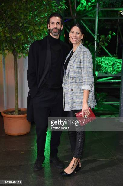 Jasmin Gerat and her brother Marlon Gerat attend the International Music Awards at Verti Music Hall on November 22, 2019 in Berlin, Germany.