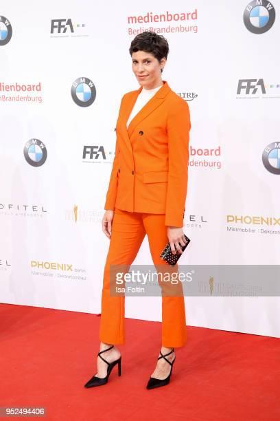 Jasmin Gerat attends the Lola German Film Award red carpet at Messe Berlin on April 27 2018 in Berlin Germany