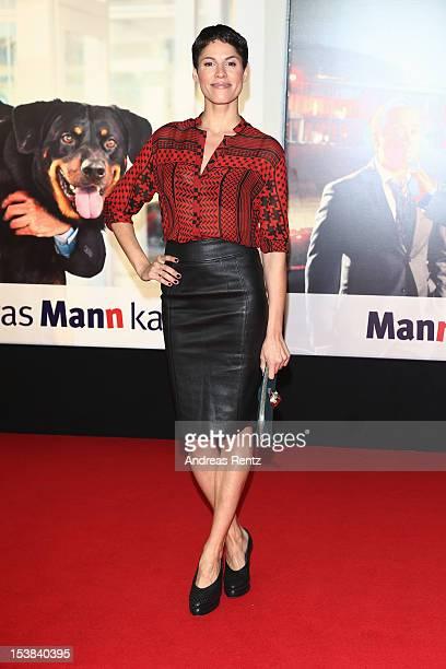Jasmin Gerat attends the 'Mann Tut Was Mann Kann' Germany Premiere at CineStar on October 9 2012 in Berlin Germany