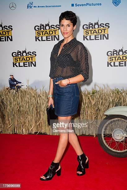 Jasmin Gerat attends the premiere of 'Grossstadtklein' at Kino in der Kulturbrauerei on August 6 2013 in Berlin Germany