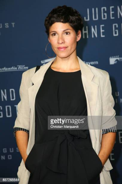 August 22: Jasmin Gerat attends the premiere of 'Jugend ohne Gott' at Zoo Palast on August 22, 2017 in Berlin, Germany.