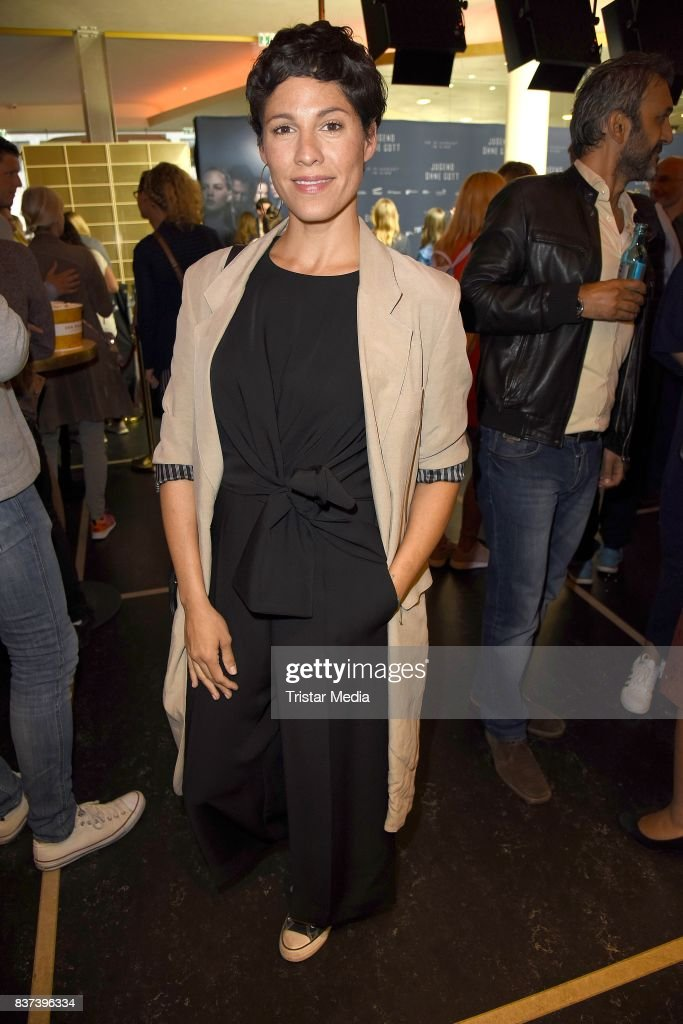 Jasmin Gerat attends the premiere of 'Jugend ohne Gott' at Zoo Palast on August 22, 2017 in Berlin, Germany.