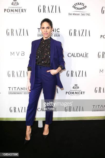 Jasmin Gerat during the Grazia Fashion Dinner 2019 at Titanic Hotel on January 16, 2019 in Berlin, Germany.