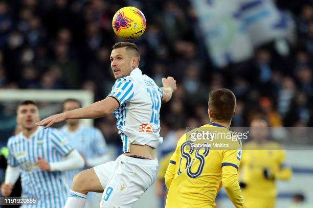 Jasmin Kurtic of Spal in action during the Serie A match between SPAL and Hellas Verona at Stadio Paolo Mazza on January 5 2020 in Ferrara Italy