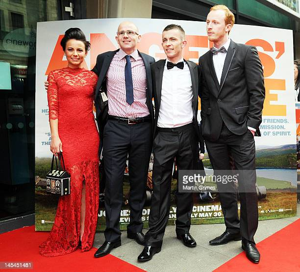 Jasmin Riggins Gary Maitland Paul Brannigan and William Ruane attend the The Angels' Share UK premiere at Cineworld Glasgow on May 29 2012 in Glasgow...