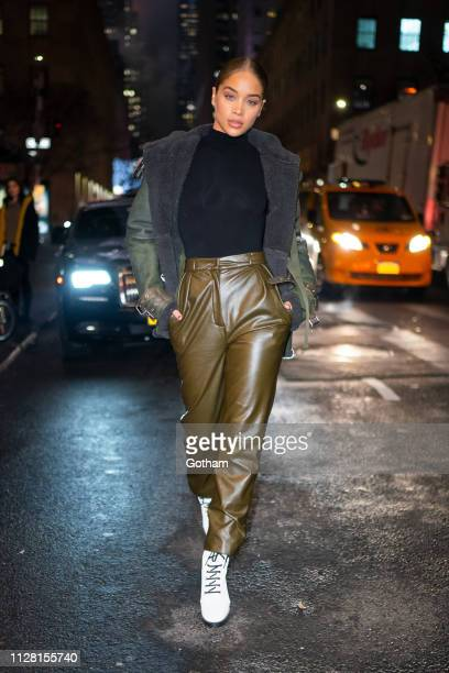 Jasmin Sanders is seen in Midtown on February 07 2019 in New York City
