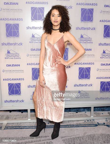 Jasmin Savoy Brown arrives at the Art Directors Guild 23rd Annual Excellence In Production Design Awards at InterContinental Los Angeles Downtown on...