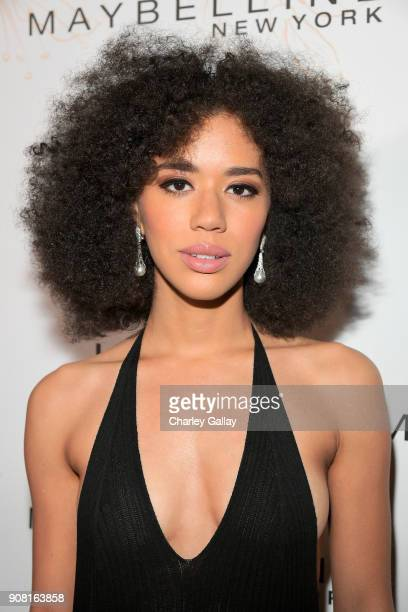 Jasmin Savoy Brown attends Entertainment Weekly's Screen Actors Guild Award Nominees Celebration sponsored by Maybelline New York at Chateau Marmont...