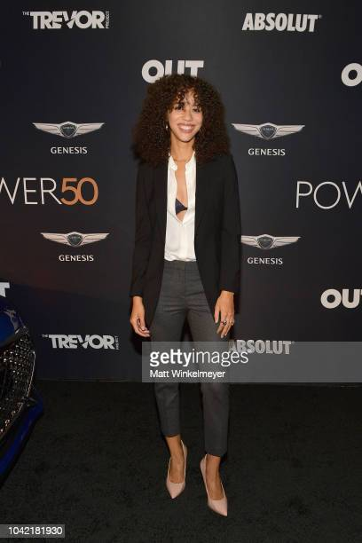 Jasmin Savoy Brown attends OUT Magazine's Power 50 Award Celebration Presented By Genesis at NeueHouse Los Angeles on September 27 2018 in Hollywood...