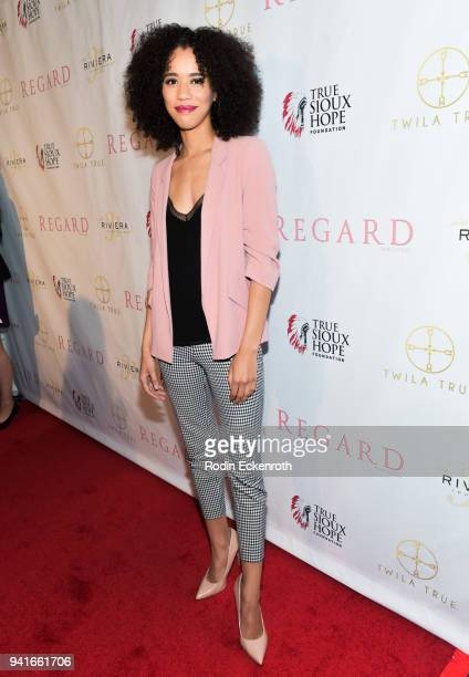 Jasmin Savoy Brown attends Regard Magazine Spring 2018 Cover Unveiling Party presented by Sony Studios featuring the cast of 'The Oath' on Crackle at...