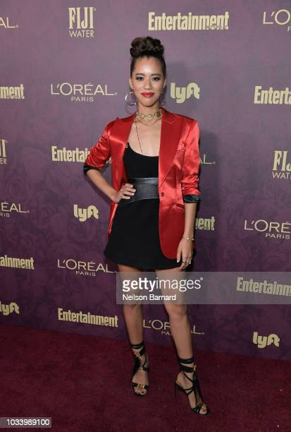 Jasmin Savoy Brown attends the 2018 PreEmmy Party hosted by Entertainment Weekly and L'Oreal Paris at Sunset Tower on September 15 2018 in Los...
