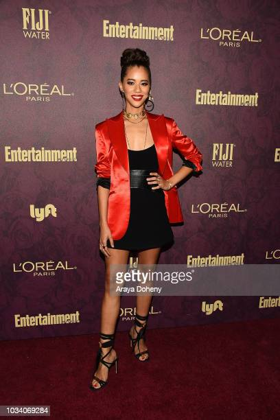 Jasmin Savoy Brown attends the 2018 PreEmmy Party hosted by Entertainment Weekly and L'Oreal Paris at Sunset Tower Hotel on September 15 2018 in West...