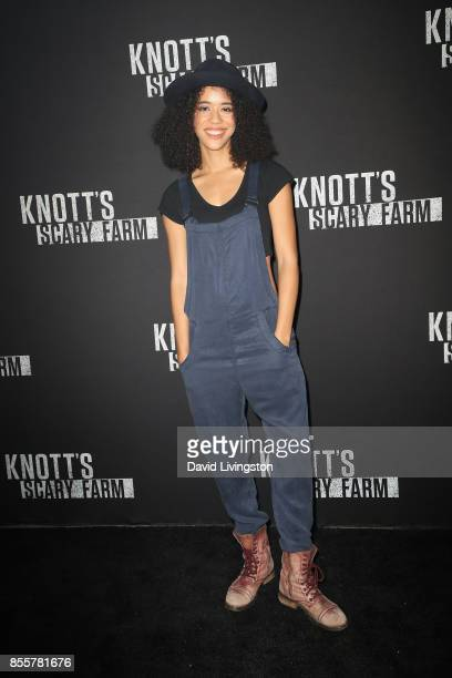 Jasmin Savoy Brown attends the Knott's Scary Farm and Instagram's Celebrity Night at Knott's Berry Farm on September 29 2017 in Buena Park California
