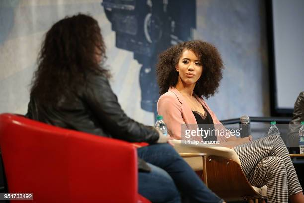 Jasmin Savoy Brown attends the Next Gen Panel at the 4th Annual Bentonville Film Festival Day 4 on May 4 2018 in Bentonville Arkansas