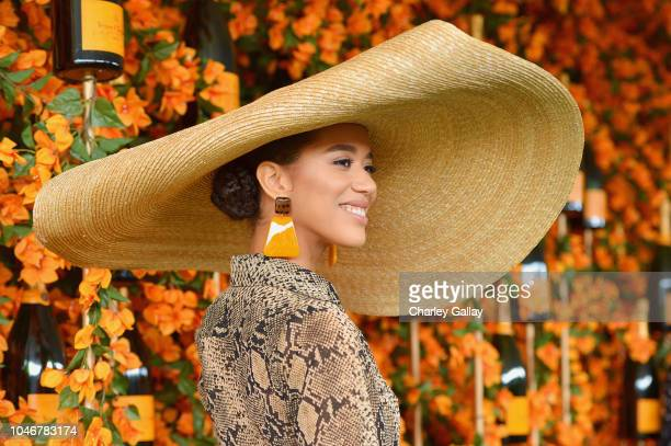 Jasmin Savoy Brown attends the NinthAnnual Veuve Clicquot Polo Classic Los Angeles at Will Rogers State Historic Park on October 6 2018 in Pacific...