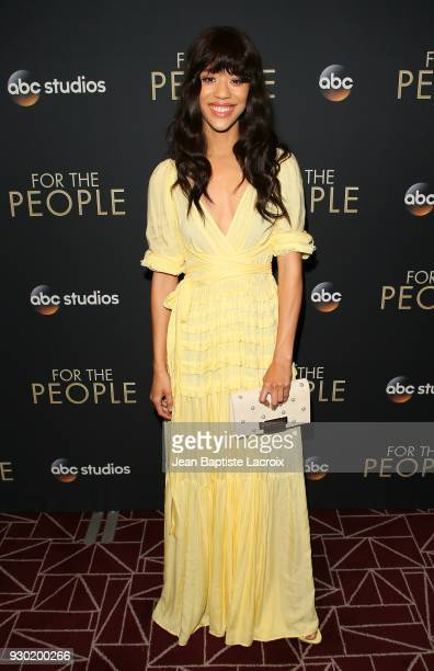Jasmin Savoy Brown attends the premiere of ABC's 'For The People' on March 10 2018 in West Hollywood California