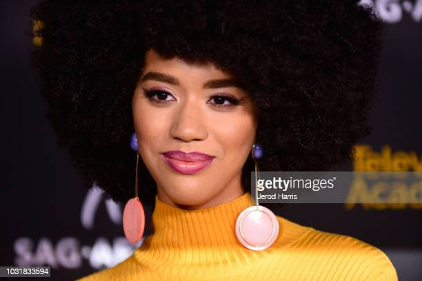 Jasmin Savoy Brown attends the Television Academy and SAGAFTRA CoHost Dynamic Diverse Emmy Celebration at Saban Media Center on September 11 2018 in...
