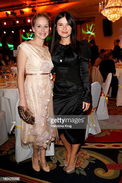 Jasmin Schwiers and Anna Fischer attend the Dreamball 2013 charity gala at Ritz Carlton on September 12, 2013 in Berlin, Germany.