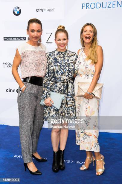 Jasmin Schwiers and guests attend the Summer Party of the German Producers Alliance on July 12 2017 in Berlin Germany