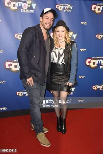 Jasmin Schwiers and her husband Jan van Weyde attend the German Comedy Awards at Studio in Koeln Muehlheim on October 24 2017 in Cologne Germany