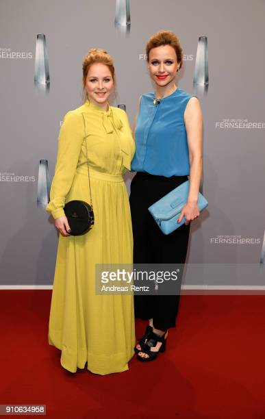 Jasmin Schwiers and Nadja Becker attend the German Television Award at Palladium on January 26 2018 in Cologne Germany