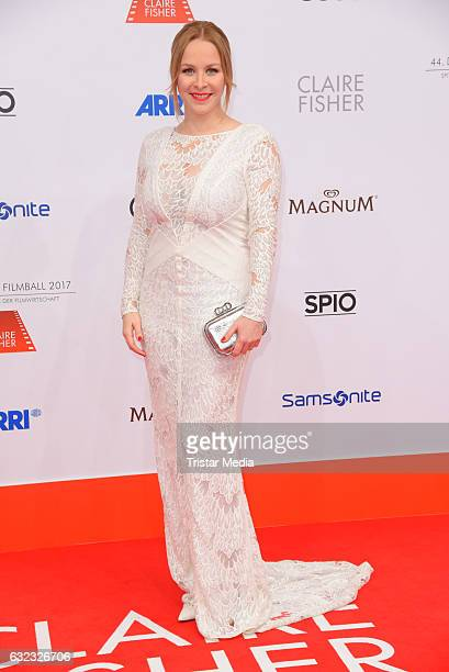 Jasmin Schwiers attends the German Film Ball 2017 at Hotel Bayerischer Hof on January 21 2017 in Munich Germany