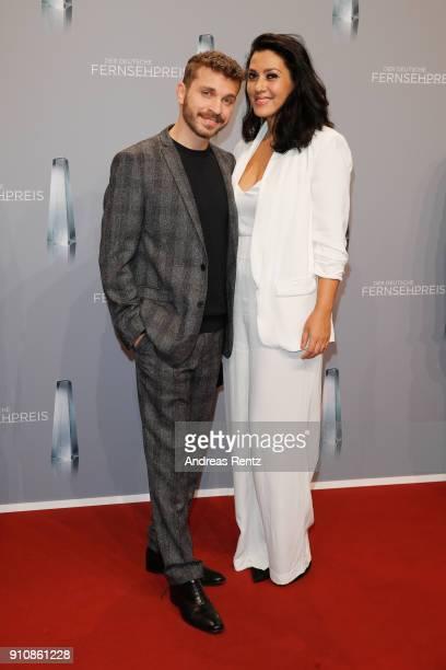 Jasmin Shakeri and Edin Hasanovic attend the German Television Award at Palladium on January 26 2018 in Cologne Germany