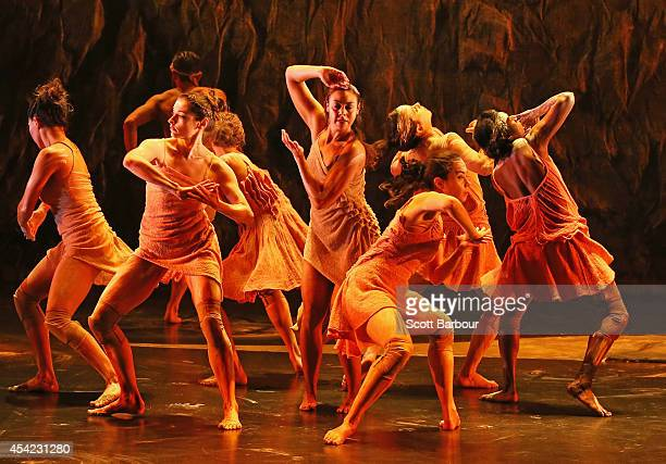 Jasmin Sheppard and dancers from the Bangarra Dance Theatre crew perform Eora where the spirit of Patyegarang awakens in a celebration of people and...